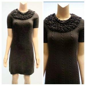 SMALL Merino Wool Brown Dress Etcetera    BP67